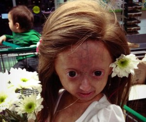 Adalia Rose gets dolled up for her mother to whore her out to unsuspecting Facebookers.