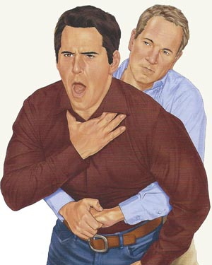 One moment a person is choking and the next, they are gay.
