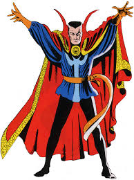Doctor Strange as he originally appeared, as a master of the dark arts, in 1962.