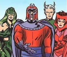 The Scarlet Witch (right) and her siblings, were abused by their father Magneto and abandoned to mediocre comic book careers despite the sister's heaving bosoms and scanty outfits.
