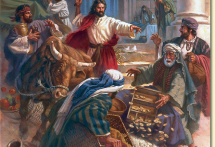 Jesus didn't say much about mixing business and faith, but he did hand out some asswhomp.
