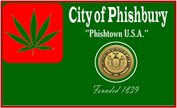 "The new flag of ""The Phishbury Township"" should Glenn Falls City Council Bill 420-24/7 pass"