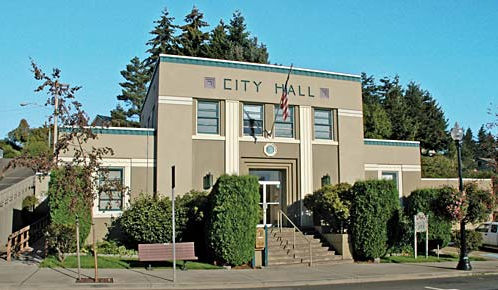 The Glenn Falls City Hall Building was the site of a controversial proposal by the town's eccentric mayor.