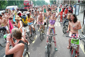World Naked Bike Ride - CENSORED FOR YOUR PROTECTION!