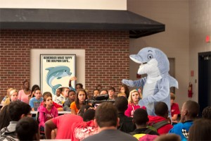 Fappy The Anti-Masturbation Dolphin speaking to students