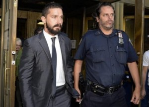 Actor Shia La Beouf escorted from Los Angeles County courthouse on Tuesday, September 16, 2014