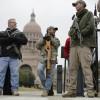 Ammosexuals in Florida and Texas Protesting Legislative Action that may result in blacks having the right to open-carry.  (AP Photo/Eric Gay, File)